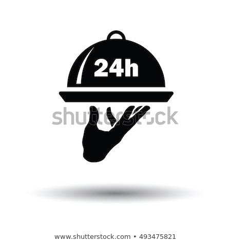 24 Hour Room Service Icon Stock photo © angelp
