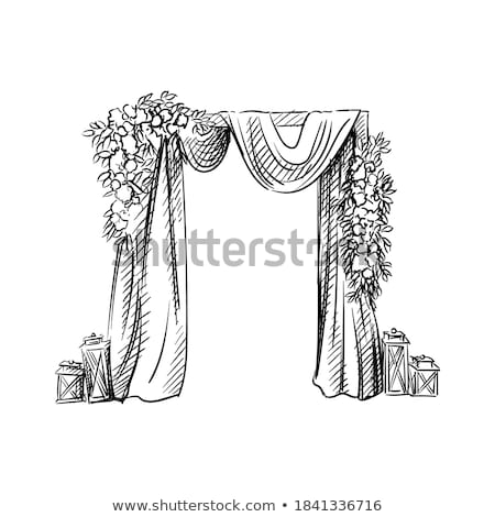 ünneplés esküvő dekoráció ív vektor ikon Stock fotó © pikepicture