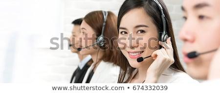 Banner klanten hulp call center Stockfoto © RAStudio