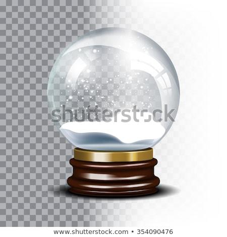 realista · vidro · esfera · sombras · reflexão · céu - foto stock © pikepicture