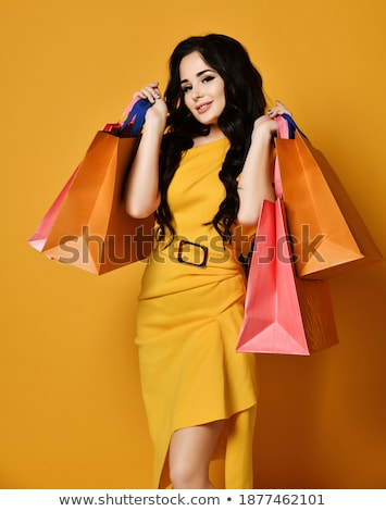 Nice Brown and Yellow Shop on Yellow Background. Stock photo © robuart