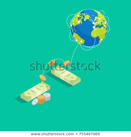 Conjunto transferência de dinheiro próprio gráfico ícone Foto stock © robuart