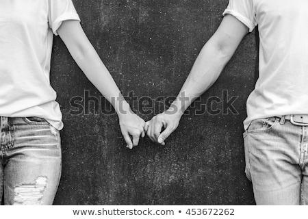 Couple mains tenant engagement mariage relations Photo stock © dolgachov