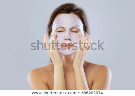 Cara atención belleza mujer hoja Foto stock © galitskaya