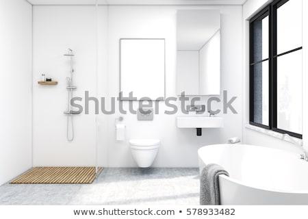 Front widoku wnętrza nowoczesne prysznic domu Zdjęcia stock © wavebreak_media