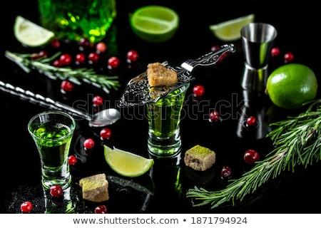 Gafas azúcar moreno verde alimentos bar Foto stock © furmanphoto