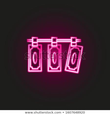 Geld wasmachine icon vector schets illustratie Stockfoto © pikepicture