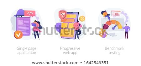 núcleo · desarrollo · aterrizaje · página · minúsculo · personas - foto stock © rastudio