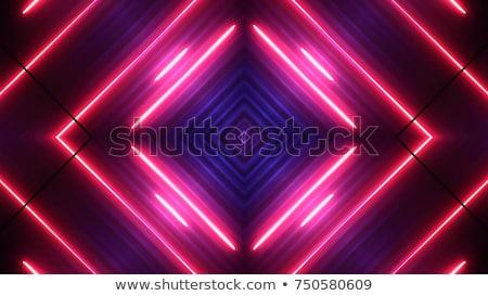 Futuristico neon geometrica luci fase design Foto d'archivio © SArts