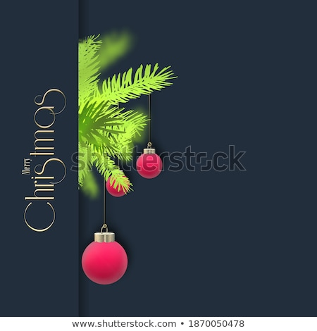beautiful christmas 3d ball with text space Stock photo © SArts