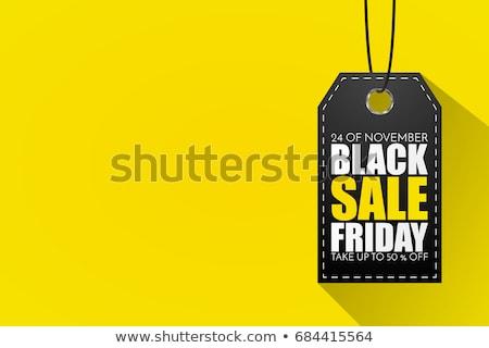 Absztrakt citromsárga black friday vásár szalag terv Stock fotó © SArts