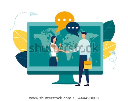 The conclusion of the transaction on the background of an infographic Stock photo © ConceptCafe