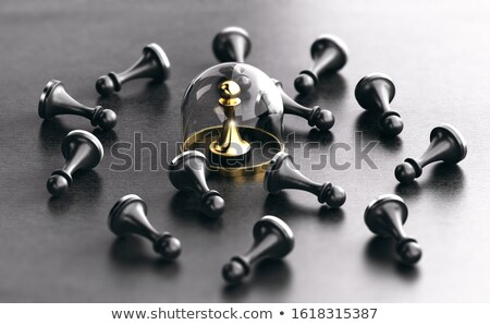 Versicherung einzelne Schutz Risiko 3D-Darstellung schwarz Stock foto © olivier_le_moal