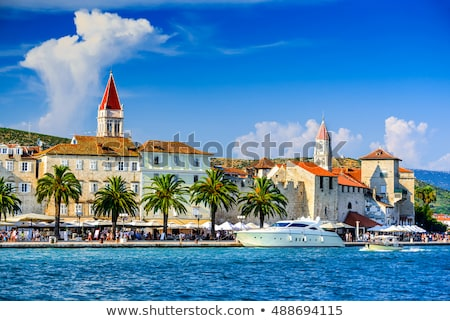 Panorama Croacia barrio antiguo puente edificio paisaje Foto stock © borisb17