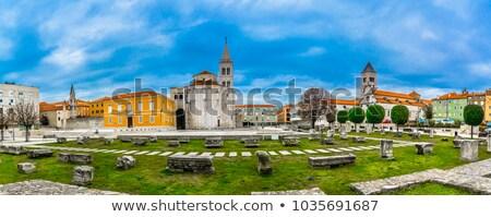 Roman column, Zadar, Croatia Stock photo © borisb17