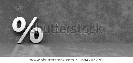 Percentagem símbolo empresário negócio homem Foto stock © AndreyPopov