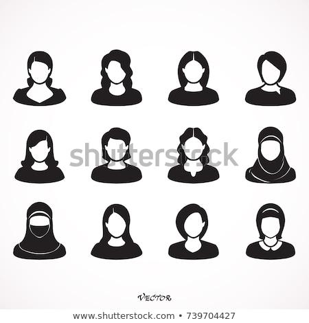 Icona muslim donna sposa hijab lineare Foto d'archivio © Olena
