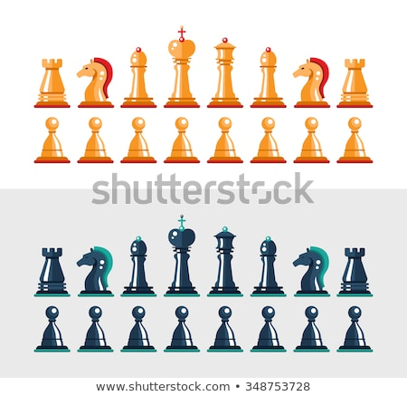 Chess set: Pawns Stock photo © ensiferrum