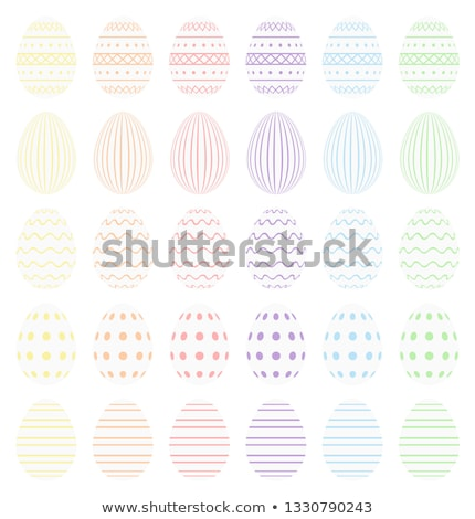 White Easter eggs with pastel decoration. High quality vector od easter eggs.  Stock photo © ukasz_hampel