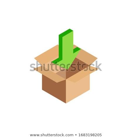 isometric download box Stock photo © Mark01987