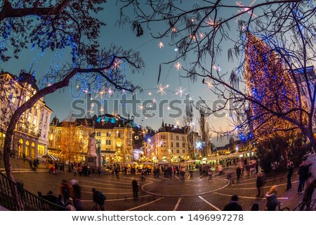 広場 クリスマス スロベニア ロマンチックな 市 センター ストックフォト © kasto
