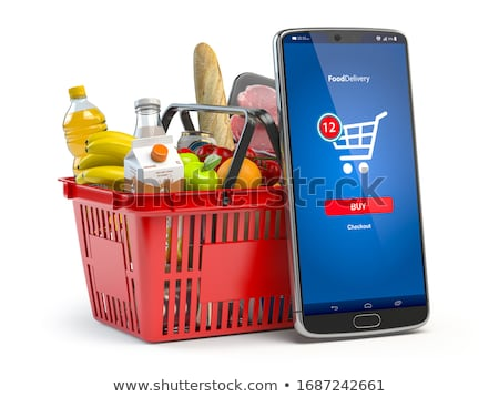 online shopping on white background. Isolated 3D illustration Stock photo © ISerg