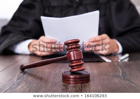 Close Up Of Judge Holding Gavel Stock photo © AndreyPopov