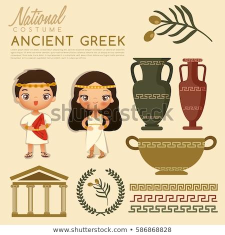 Starożytnych grecki tradycyjny kostiumy kultury Ateny Zdjęcia stock © netkov1