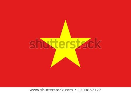 Vietnam zászló fehér hullám szalag szalag Stock fotó © butenkow