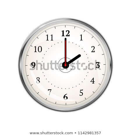 Realistic clock face showing 02-00 on white Stock photo © evgeny89