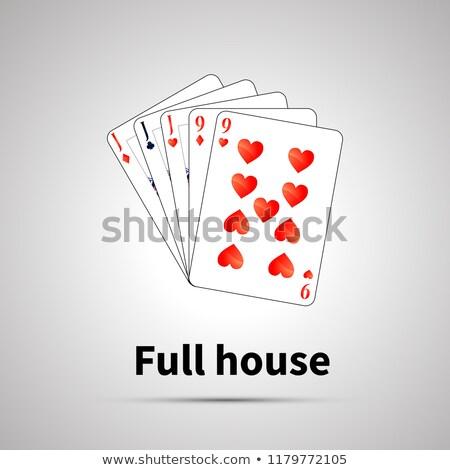 Completo casa póquer combinación gris sombra Foto stock © evgeny89