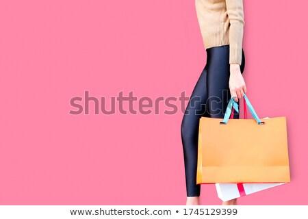Online vásárlás papírzacskó ruházat divat papír technológia Stock fotó © yupiramos