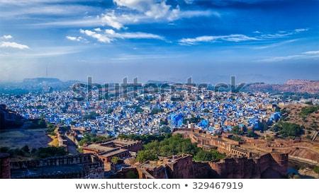 Aéreo panorama azul ciudad India Foto stock © dmitry_rukhlenko