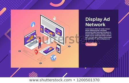 Data driven marketing concept landing page. Stock photo © RAStudio