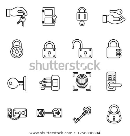 Zár ikon jelszó védett felirat stock Stock fotó © kyryloff