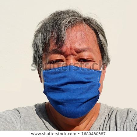 Fiebre virus triste hombre Foto stock © Kakigori