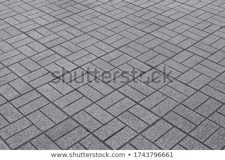 construction · trottoir · gravier · pierre · travailleur · construire - photo stock © bobkeenan