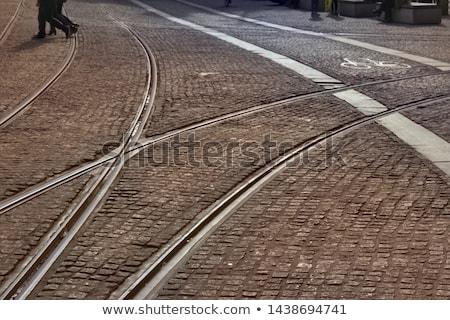 Tramway scene in Amsterdam Stock photo © ldambies