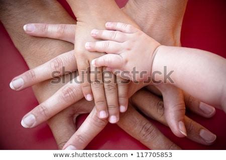 Familia cuatro manos mujer bebé nino Foto stock © Paha_L