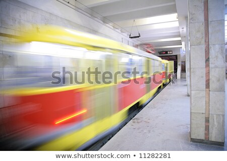 急速 トラム 車 地下鉄 アーキテクチャ トンネル ストックフォト © Paha_L
