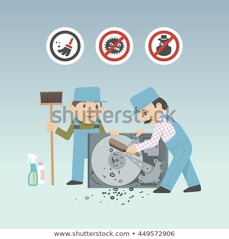 очистки Жесткий диск право угол компьютер Сток-фото © gewoldi