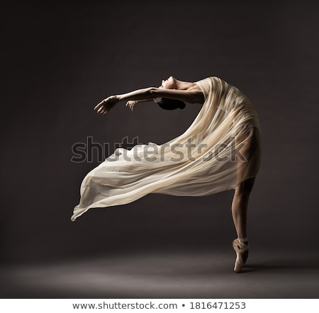 beautiful woman is dancing in studio stock photo © Pilgrimego