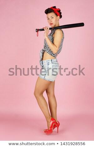 Mädchen · bat · Dame · Illustration · sexy - stock foto © lenm