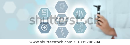 Orvosi diagram hallókészülék mutat papír egészség Stock fotó © vladacanon