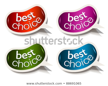 Beans bubble speech with Best Choice motive Stock photo © DavidArts