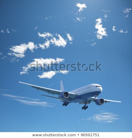 Jet aircraft in a noon sky. Square composition. Stock photo © moses