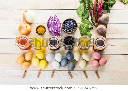 Colorful easter eggs in nature Stock photo © photocreo
