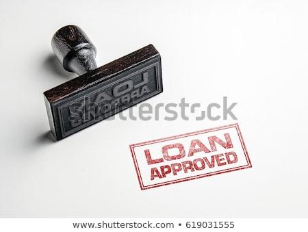 Finanziaria approvato parole soldi lavoro successo Foto d'archivio © Ansonstock