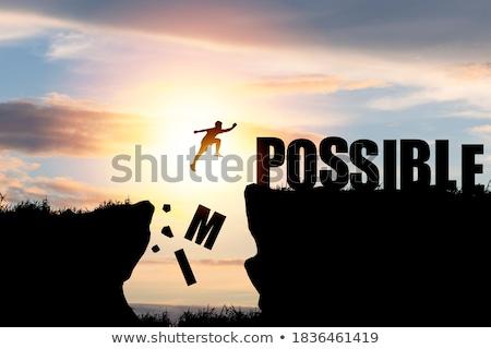 Onmogelijk mogelijk jonge vrouw helpen liefde vrouwen Stockfoto © silent47
