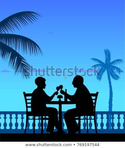 Elderly couple toasting each other in restaurant Stock photo © photography33